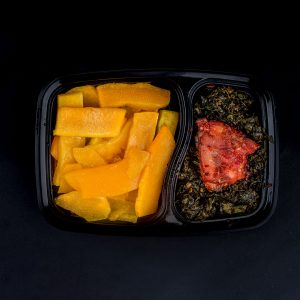 Pumpkin Chips, Ugwu Stir Fry, Chicken - Nellies Healthy Meals