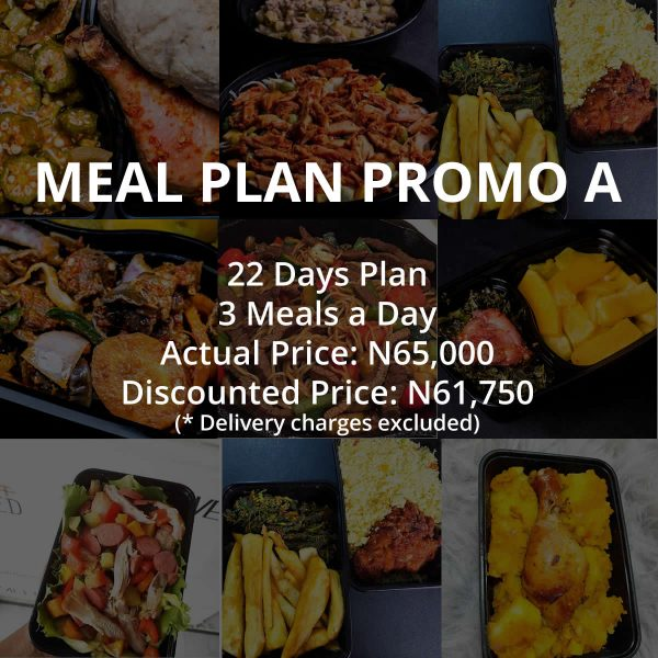 22 Days Meal Plan Combo A