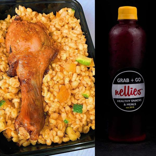 Jollof Burgurl With Tommy Blast Combo - Nellies - Naija Brand Chick Trade Fair Promo